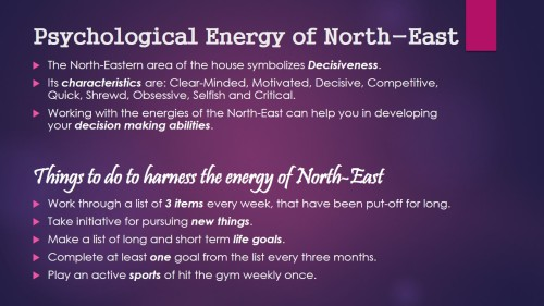 Psychological Energy of North-East