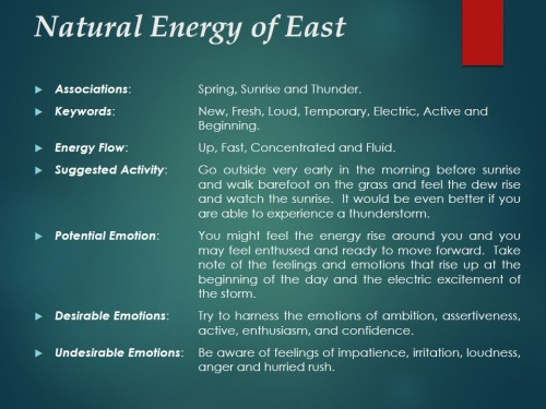 Natural Energy of East